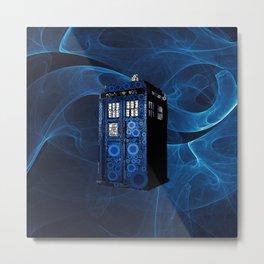 TARDIS BLUEFAME Metal Print