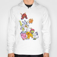 digimon Hoodies featuring Digimon Adventure Partners by Jelecy