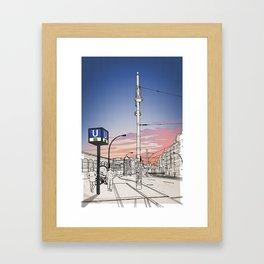 S+U Warschauer Strasse Framed Art Print