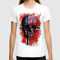 norway T-shirts featuring Skull circuit (norway-flag) by seb mcnulty