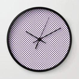 Royal Lilac Polka Dots Wall Clock