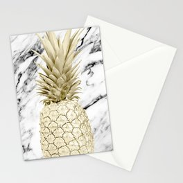 Rose Gold Pineapple Surprise on Simply Marble Stationery Cards
