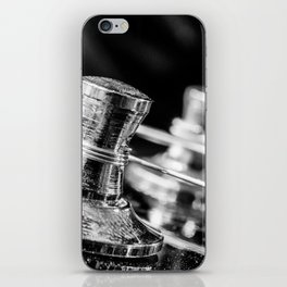 In Tune close up electric guitar tuning post and string iPhone Skin