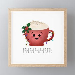 Fa-la-la-la-latte Framed Mini Art Print
