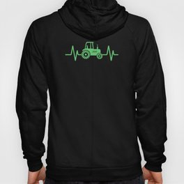 Farming Tractor design, Heartbeat Green Tractor, Farmer Gift Hoody