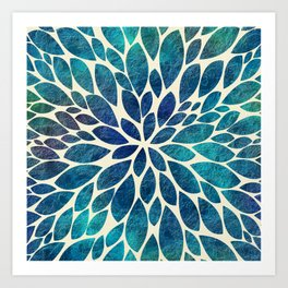 Petal Burst - Turquoise Art Print