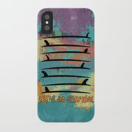 Let's go surfing! iPhone Case