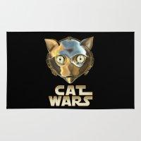 c3po Area & Throw Rugs featuring Cat Wars C3PO by Detullio Pasquale