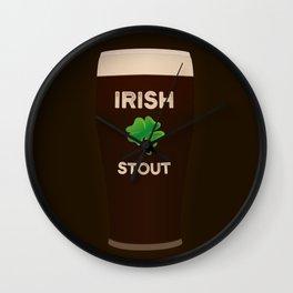 Irish Stout Wall Clock