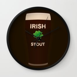 Irish Stout Wall Clock