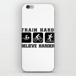 Triathlon Train Hard Gift iPhone Skin
