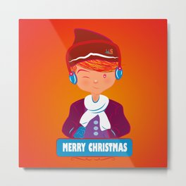 "Mikel AlfsToys say: ""Merry Christmas""  Metal Print"