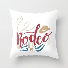 Rodeo Wild West Throw Pillow