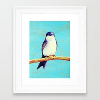 swallow Framed Art Prints featuring Swallow by Pincay