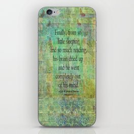 Don Quixote reading madness. iPhone Skin