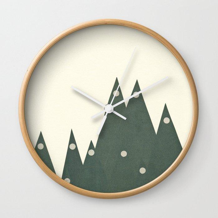Moonlit Peaks Wall Clock