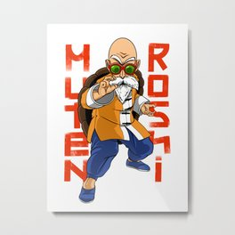 Muten Roshi, the kung fu master! Metal Print