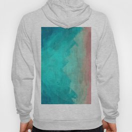 Sunset Over Lagoon Abstract Painting Hoody