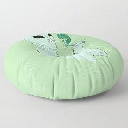 alien s2 brocolli Floor Pillow