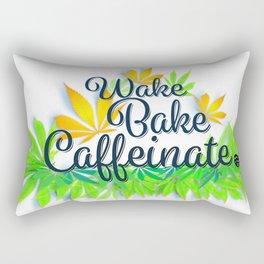 Wake Bake Caffeinate Rectangular Pillow