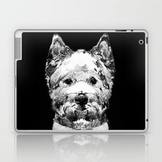 Black And White West Highland Terrier Dog Art Sharon Cummings Laptop & iPad Skin