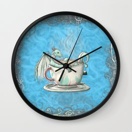 Tea Cup Dragons; Peppermint Wall Clock