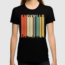 Vintage 1970's Style Knoxville Tennessee Skyline T-shirt