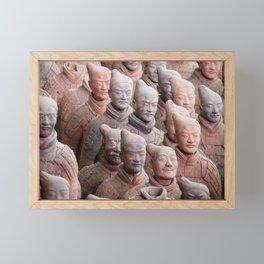 Xian Terracotta Warriors Framed Mini Art Print