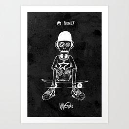 Boney Skateboarding series - 03 Art Print