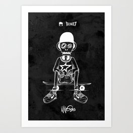 Boney Skateboarding series - 03 Art Print