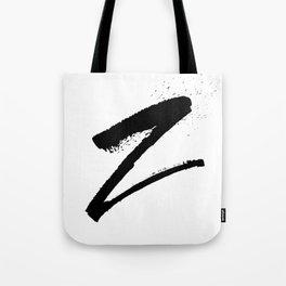 Letter Z Ink Monogram Tote Bag