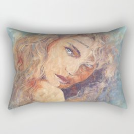 Coachella Girl Rectangular Pillow