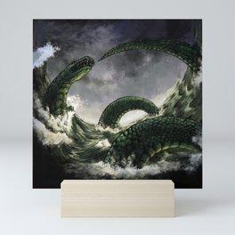 Jormungandr the Midgard Serpent Mini Art Print