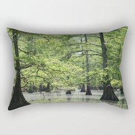 Cypress Trees in the Louisiana Swamp Rectangular Pillow