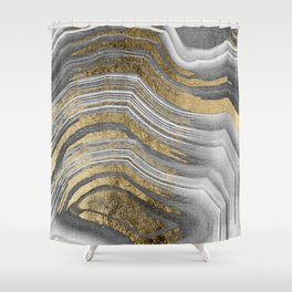 Abstract paint modern Shower Curtain