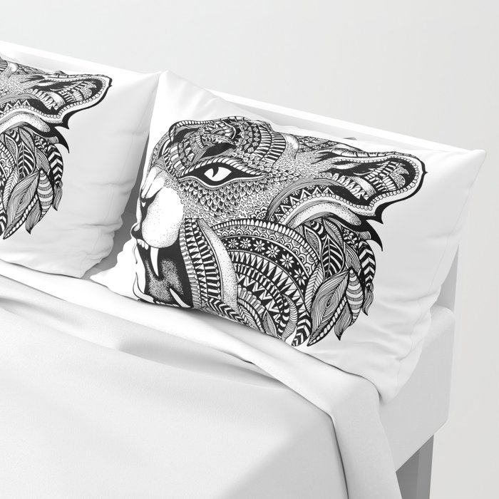 Ferocious Jaguar: The Ferocious Jaguar Pillow Sham By Labartry