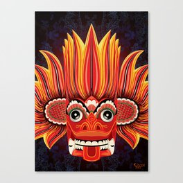Sri Lankan Fire Demon Canvas Print