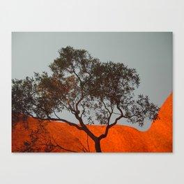 Uluru at sunrise Canvas Print
