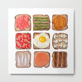 Breakfast Toast Metal Print