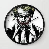 joker Wall Clocks featuring Joker. by CJ Draden