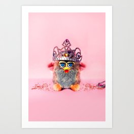 Furby Princess Art Print