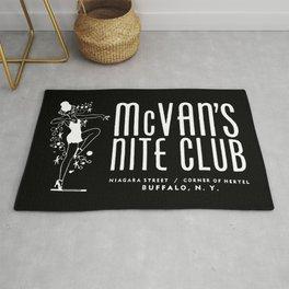 McVan's Nite Club Black Rug