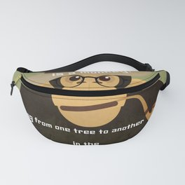 Writer is a monkey 1 Fanny Pack