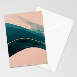 California Watercolor Winter Stationery Cards