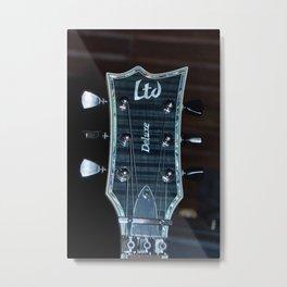 Guitare Metal Print