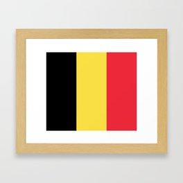 Flag of Belgium Framed Art Print