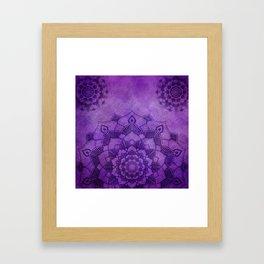 Deep Purple Lotus Mandala Framed Art Print