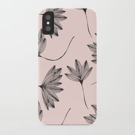 Pink Retro Floral Pattern-Mix and Match with Simplicity of Life iPhone Case