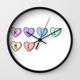 Kill Me Candy Hearts Wall Clock