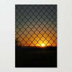 Fence Light Canvas Print